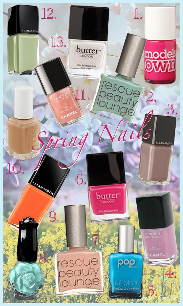 neutral nail polish colors. nail polish is on-trend.
